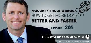 205 -  Productivity Through Technology - how to get more done, better and faster