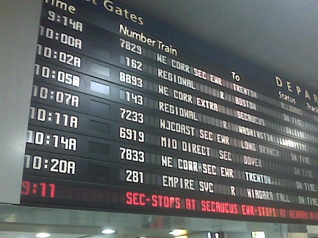 Pennsylvania Station, NYC on my way to Boston!